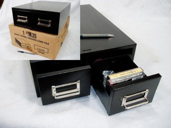 "Buddy File Drawer, # 1635, 3"" X 5 "" Dbl, Black"