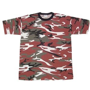 Camo T-shirt Red Camo, Short Sleeve