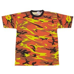 Camo T-shirt Orange, Short Sleeve