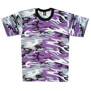 Camo T-shirt Purple, Short Sleeve