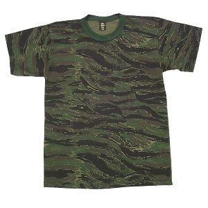 Camo T-shirt Tigerstripe, Short Sleeve