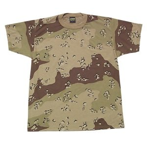 Camo T-shirt Desert 6-color, Short Sleeve
