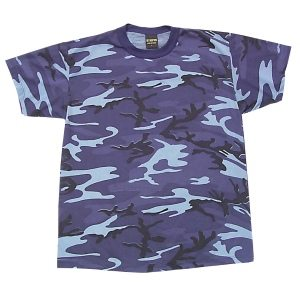 Camo T-shirt Sky Blue, Short Sleeve