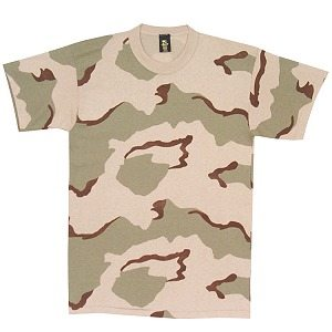 Camo T-shirt Desert 3-color, Short Sleeve