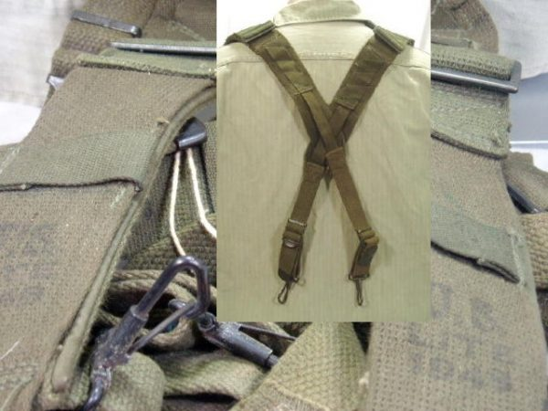 M-1945 Cross Suspenders, With Padding