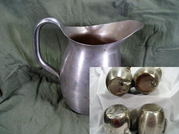 Mess Hall Pitchers, Stainless Steel