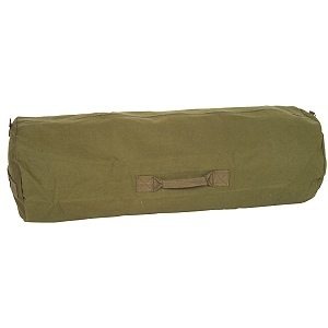 Zipper Duffle Bag, Olive Drab Green
