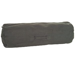 Zipper Duffle Bag, Black