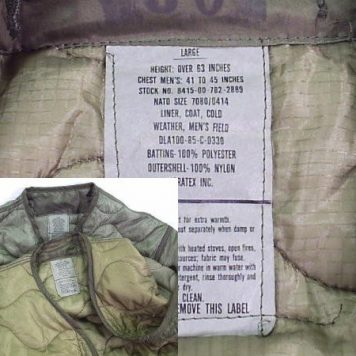 M-65 Field Jacket Liner, New, Original GI