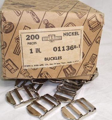 D-buckles, Chrome 1 In, 1 Box Of 200