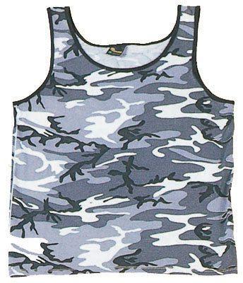 Tank Top, Camouflage City White Urban Camo