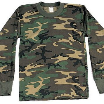 Long Sleeve T-shirt, Woodland Camo