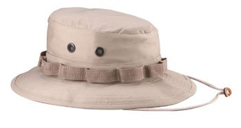Military Boonie Hat, Khaki 50/50 Rip Stop