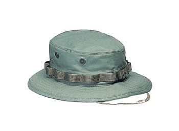 Military Boonie Hat, Olive Drab Green 50/50 Rip Stop
