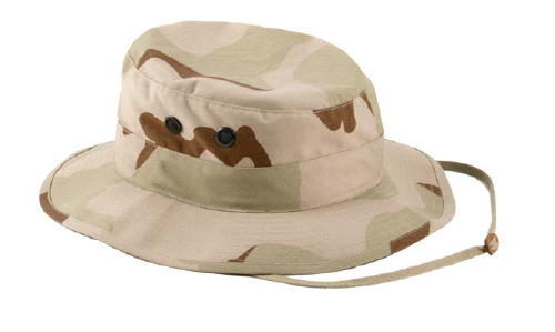 Military Boonie Hat, 3- Color Desert, 50/50 Rip Stop