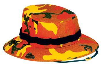 Boonie Hat, Orange Camo