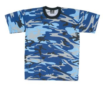 Camo T-shirt, Electric Blue, S/s