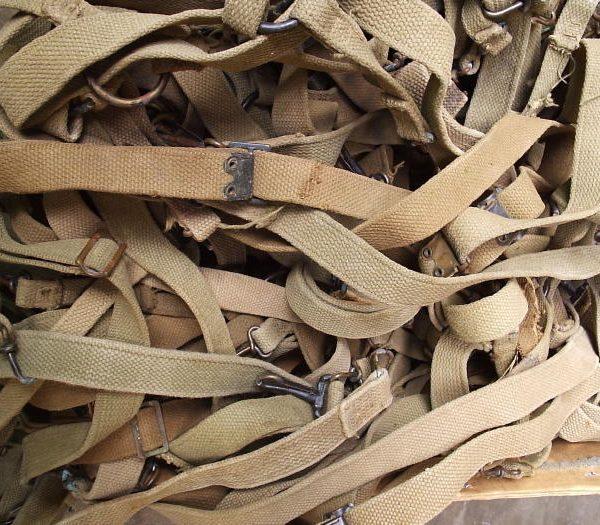 USMC M41 Suspenders, WW2, Khaki