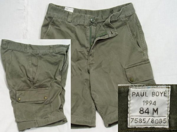 French Combat Shorts, Od, 30w
