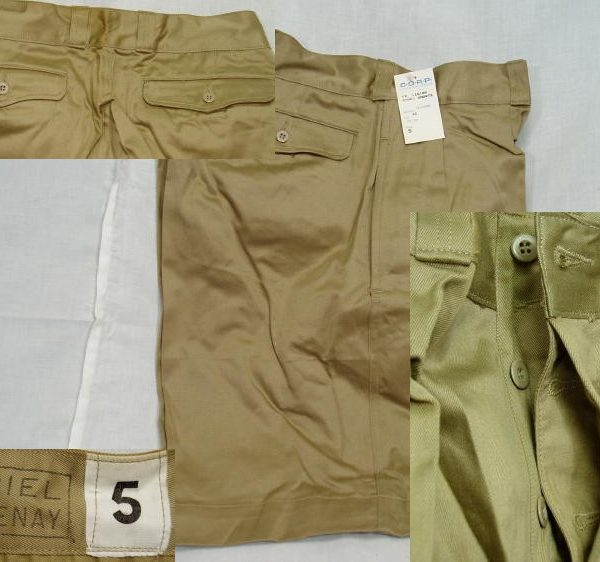 French Khaki Legion Shorts