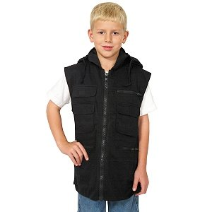 Kid's Ranger Vest, Black