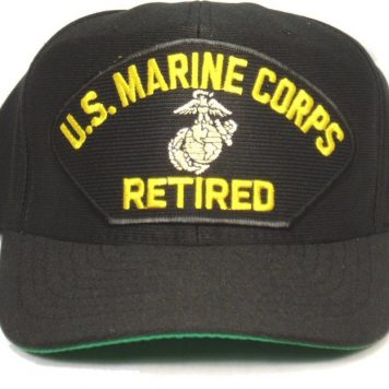 Marine Corps Cap Retired W/ Ega Black
