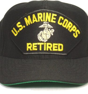 Marine Corps Cap Retired W/ Ega Black