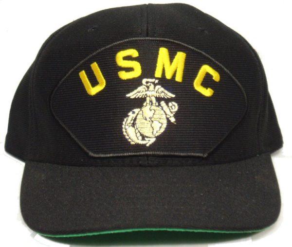 Usmc Cap W/ Ega Black