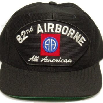 82nd Airborne Cap All American Black