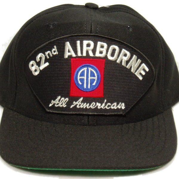 82nd Airborne Cap All American Black