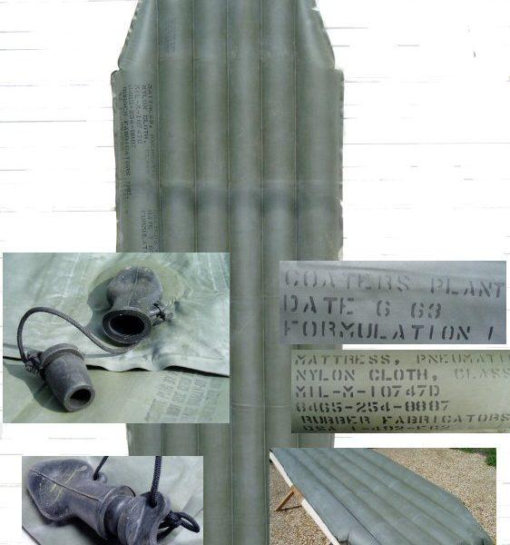 military surplus rubber air mattress, as-is