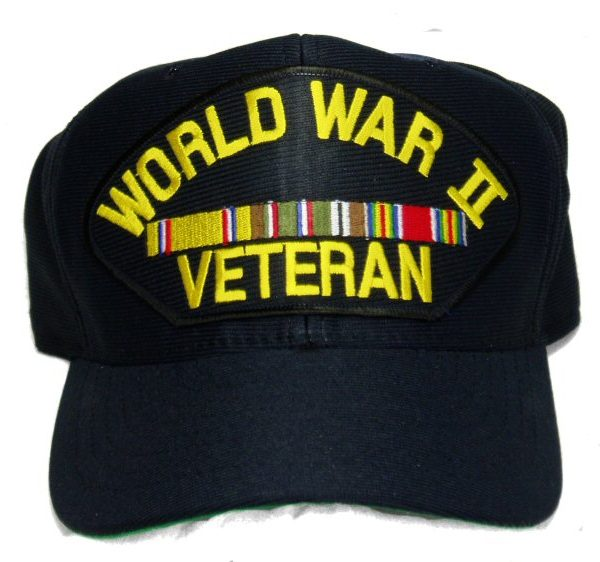 WW2 Veteran Cap W/ Euro Ribbons