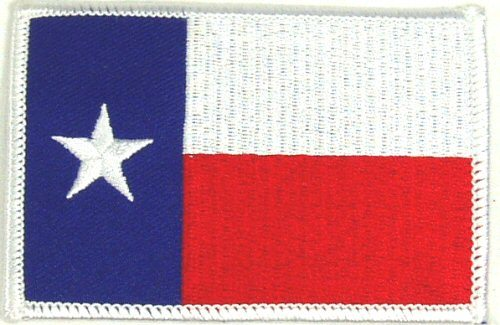 Flag-patch, Texas White Border 2 X 3