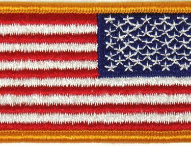 Flag-patch, US Reverse Field Gold 2 X 3 Velcro