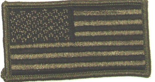 Flag-patch, US Olive Drab 2 X 3