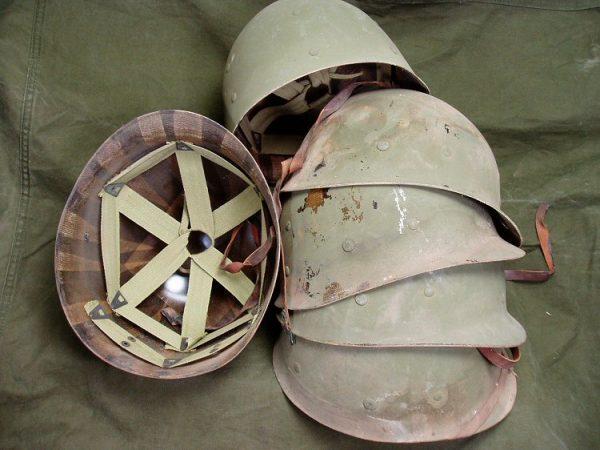 WW2 Helmet Liner, Rough No Sweatband