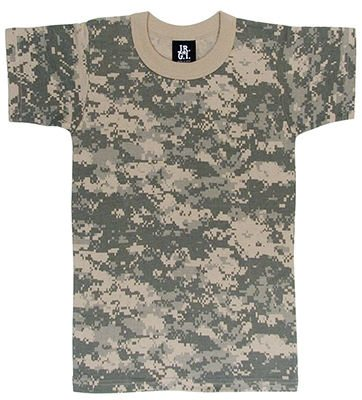 Youth T-shirt, Short Sleeve ACU Camo