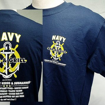 Navy T-shirt, Bar And Grill
