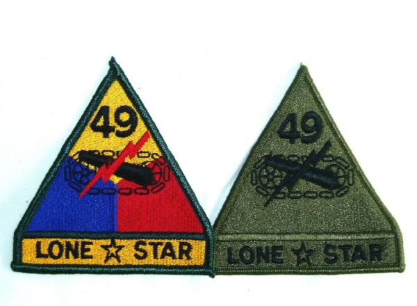 49th Armored Patch