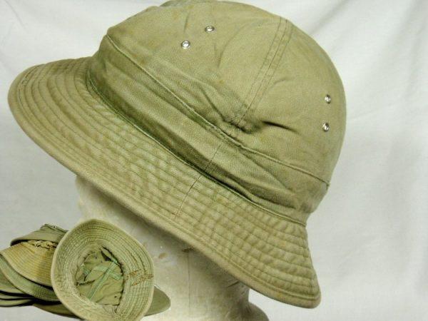 WW2 Hbt Sun Hat, Used