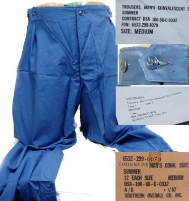 Convalescent Trousers, Medium, 1968 Date