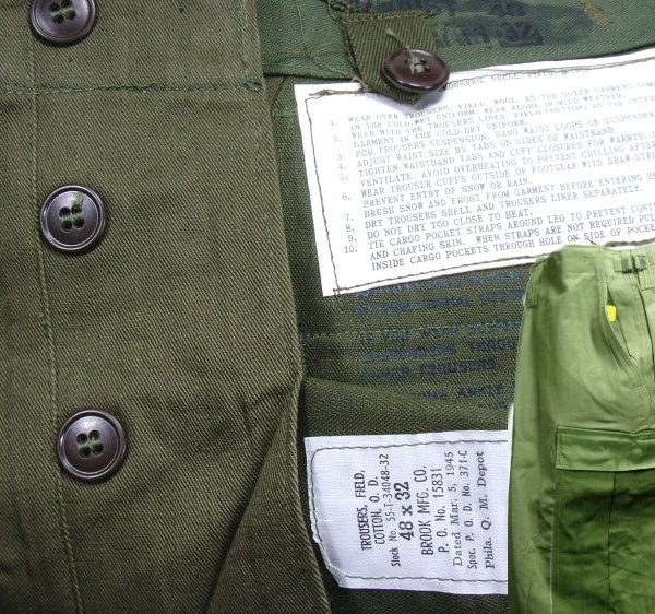 M1951 Field Trousers, 48 X 32, 1945 Date