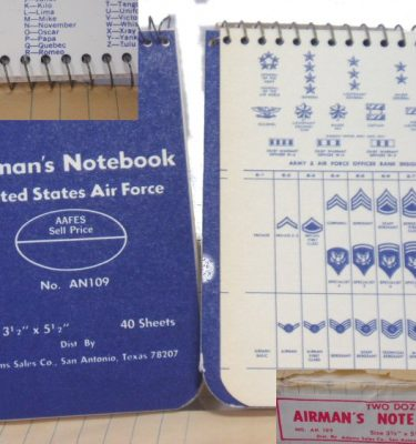 Airman's Notebook 3 X 5