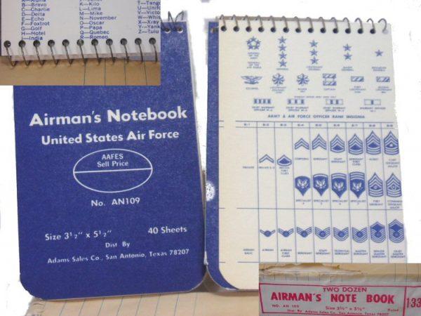 Airman's Notebook 3 X 5