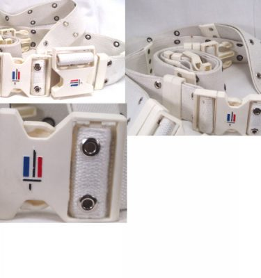 French Military Pistol Belt, White
