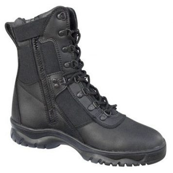 Forced Entry Side-zip Tactical Boots, Black