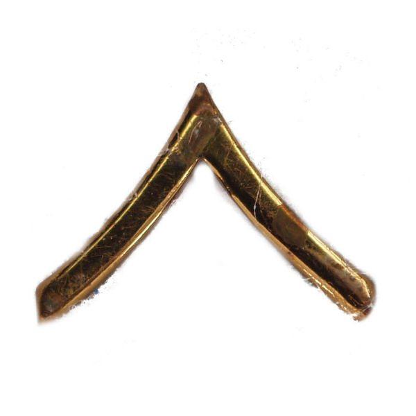 Army Pin-on Collar Rank, E-2, Pvt