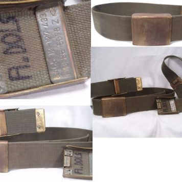 West German Uniform Belt, Grey