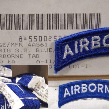 Airborne Tab, Blue / White