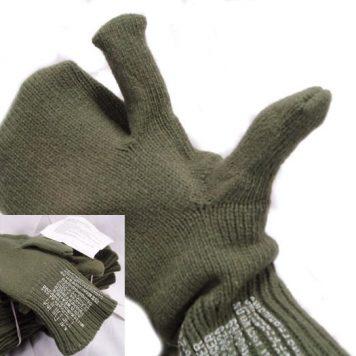 Wool Trigger Finger Mitten Liners, Medium